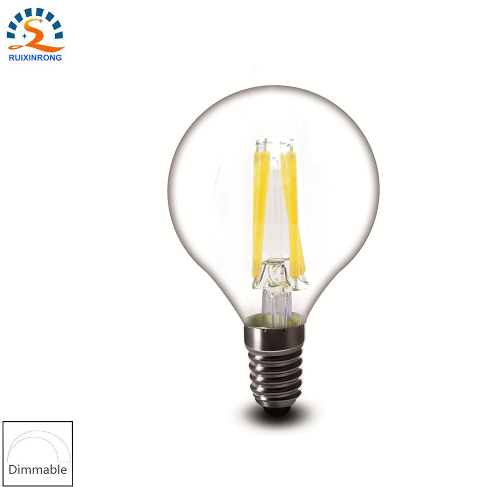 $4.08 (Buy here: http://appdeal.ru/4yip ) 1pcs E14/E12 2w 4w 6w 110v/220v G45 G14 Clear promote Replace Vintage Decorative Chandelier Candle LED Filament Bulb Lamp Light for just $4.08