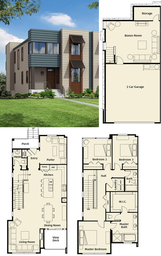 Palisade Lakeview Lane Toll Brothers Modern Residential Architecture House Plans Small House Plans