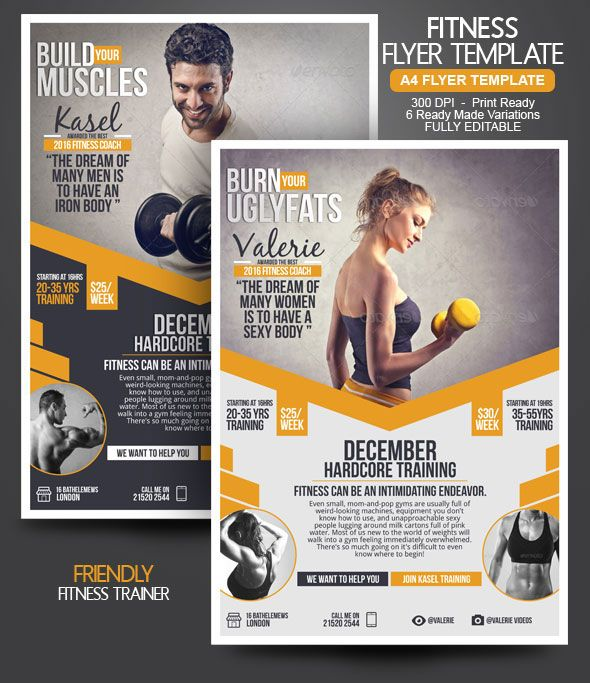 Fitness Trainer Marketing Tips Flyer Design Pinterest - fitness flyer template