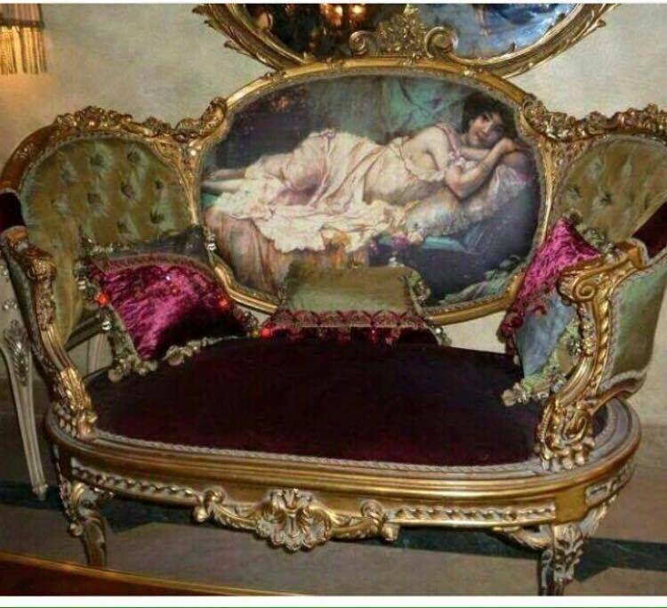 antique sofa, handmade, handpainted, Louis xvi style, French unique ...