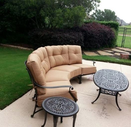 Hanamin Ts Mayfair Estate Sectional Paired With A Chateau Coffee Table Patio Furniture Outdoor Rooms Outdoor Furniture Sets Patio