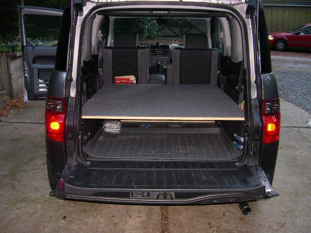 easiest bed with mass storage honda element owners club. Black Bedroom Furniture Sets. Home Design Ideas