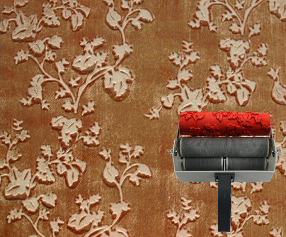 Paint Wall Supply 7 Inch Flower Pattern Paint Roller Floral
