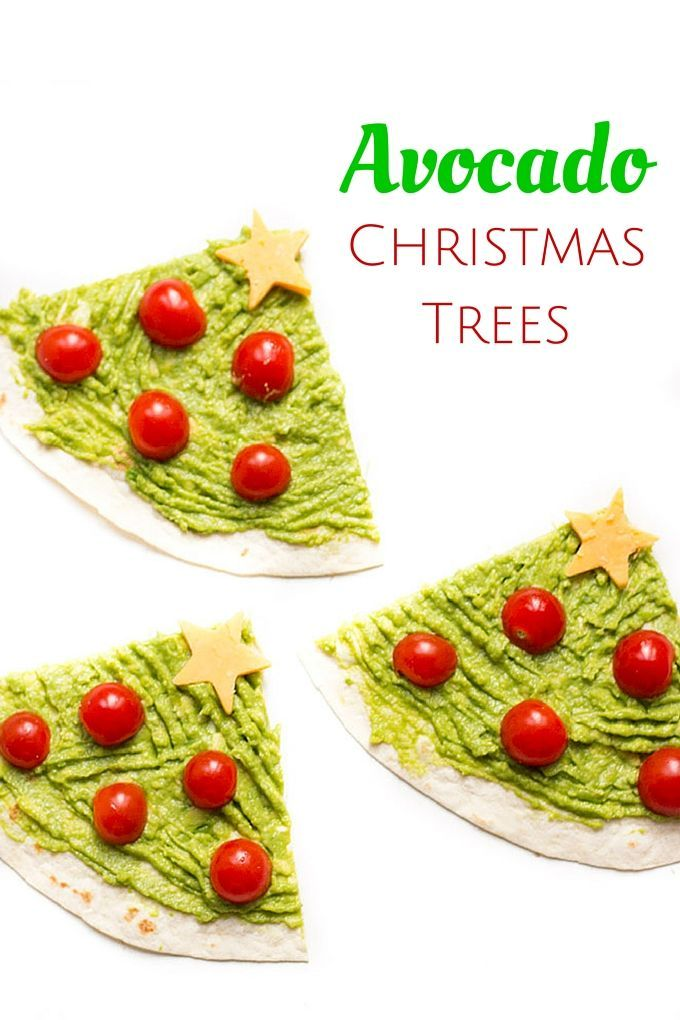 Avocado Christmas Trees - a healthy Christmas snack for kids. A ...