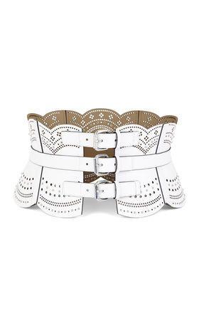 scallop cutout corset waist belt  corset waist belt