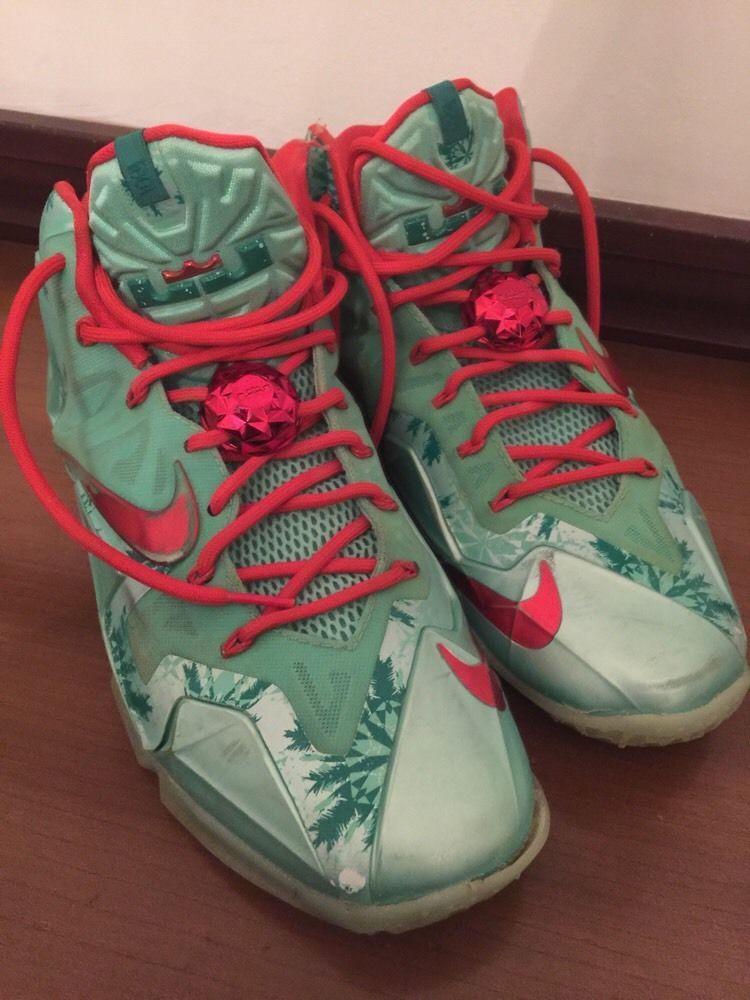 online store f3635 1e340 10.5M Nike Lebron 11 XI Xmas Arctic Green Glow Light Crimson 616175-301  Basketba  Nike
