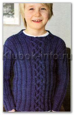 свитер спицами для мальчика 10 лет