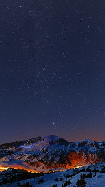 Mountains At Night Wallpaper Iphone 6s Plus In 2019 Iphone