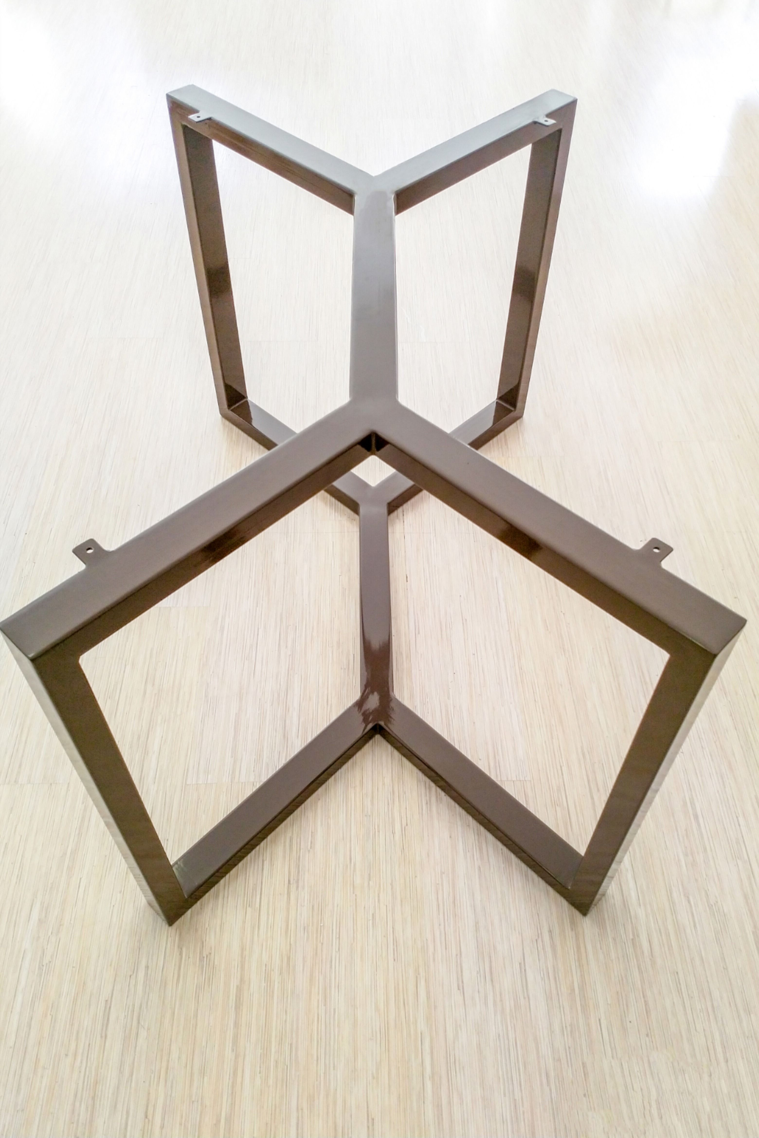 Heavy Duty Steel Table Frame 50x50mm Metal Table Legs Modern Industrial Dining Table Base For Marble Quartz Granite Glass Wood Tables Steel Table Metal Table Metal Table Base