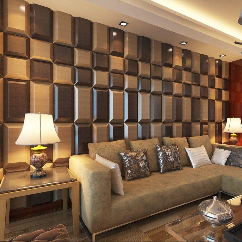 Luxury Ceiling Wall Panel 3D Modern Leather Tiles Pinterest