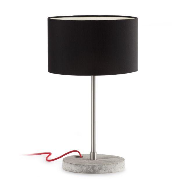 Lámpara de Mesa negra pie polímero #lamparas #iluminacion ...