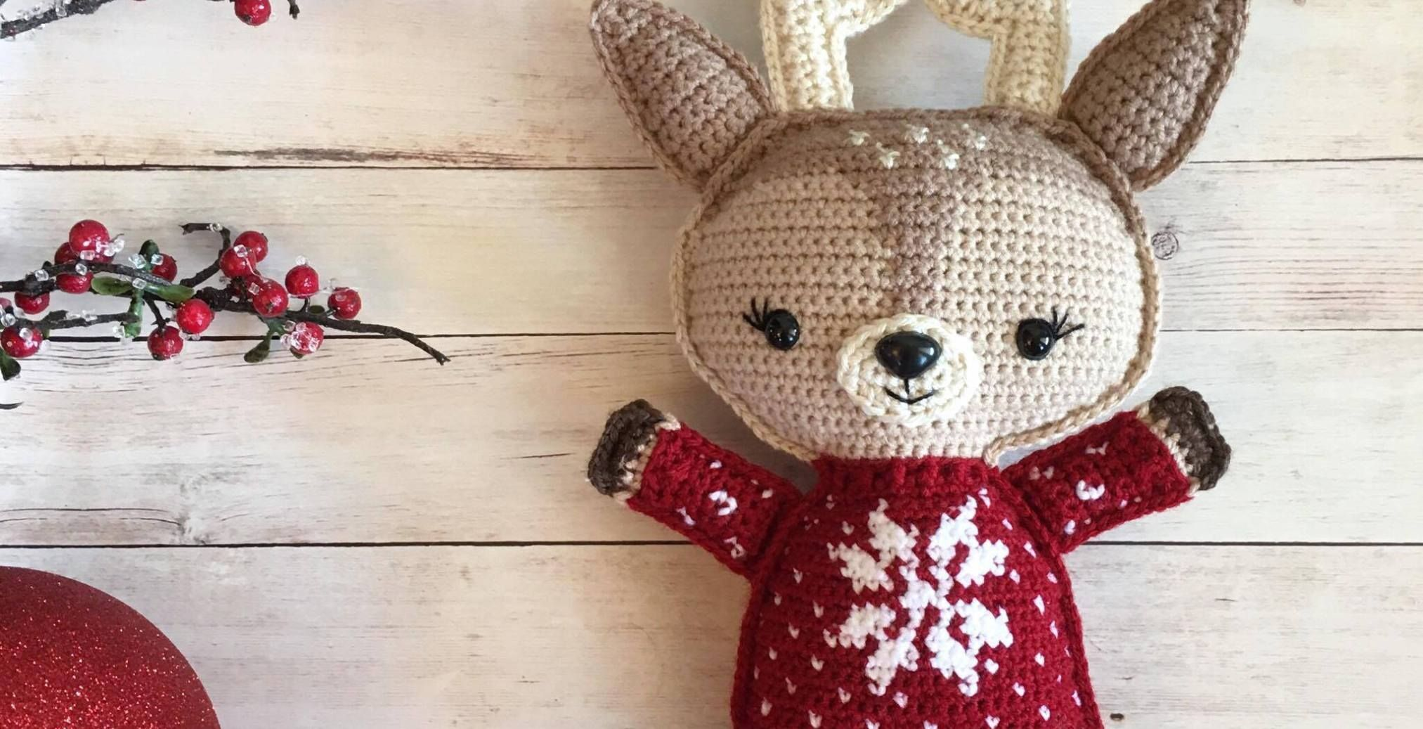 Holiday Deer Free Crochet Pattern (Part 1) Spin A Yarn