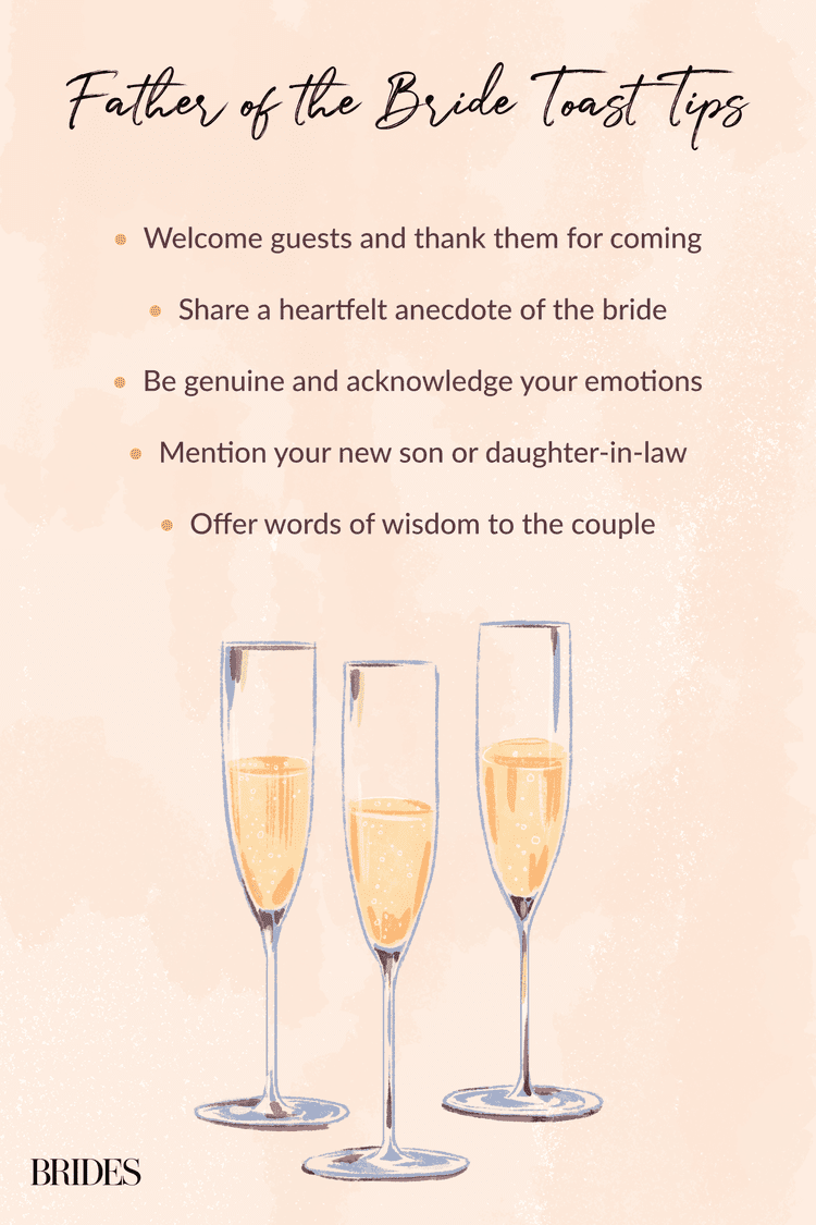14 Must Know Tips For The Father Of The Bride S Wedding Toast In 2020 Father Of The Bride Wedding Toasts Bride Speech