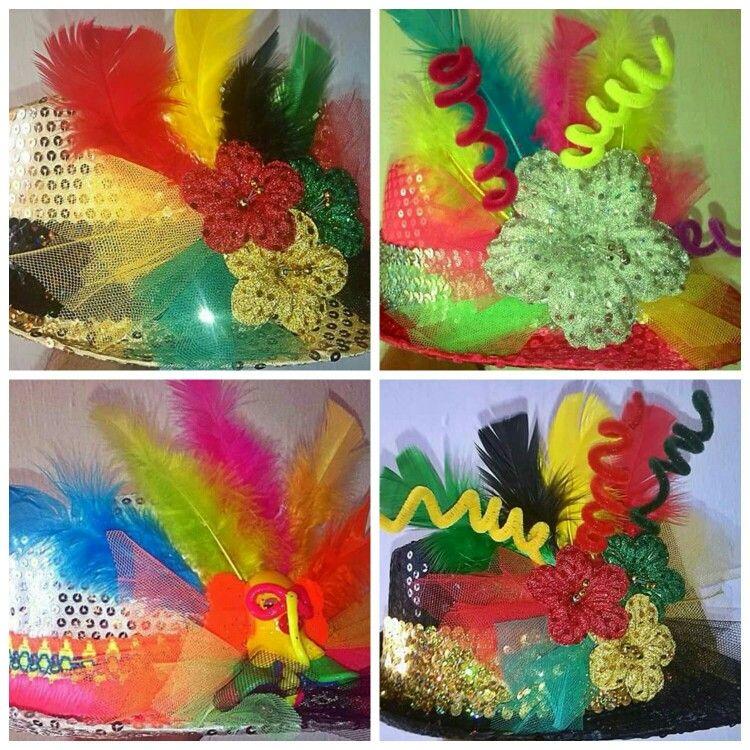 Sombreros decorados carnaval de Barranquilla  3e3ed67b400
