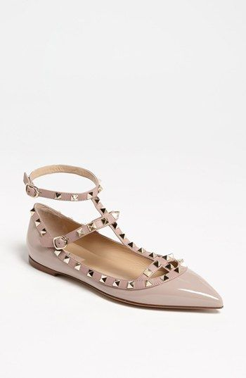a2e87ac3f5f7 Valentino Rockstud Flat - would totally rock these under a wedding dress!