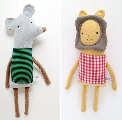 The one blog I follow every day without fail is Swiss-Miss.I'm a fan of  Tina's business and marketing insights as well as her wide array of  interesting finds that she curates from across the globe. Last week, she  had a quick post about these adorable stuffed animals, called The  Finkelsteins