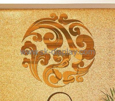 Factory custom acrylic wall mirror decorative door sticker mirror ...