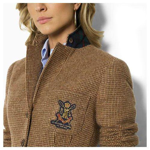 Ralph Lauren Women S Tweed Riding Jacket In Khaki Ralph