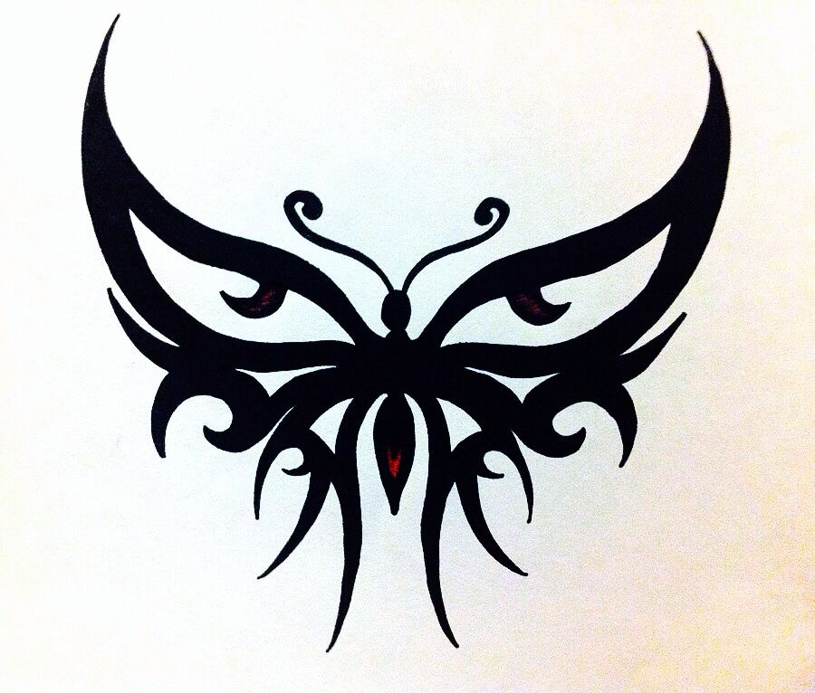 tribal butterfly tattoos - 900×766