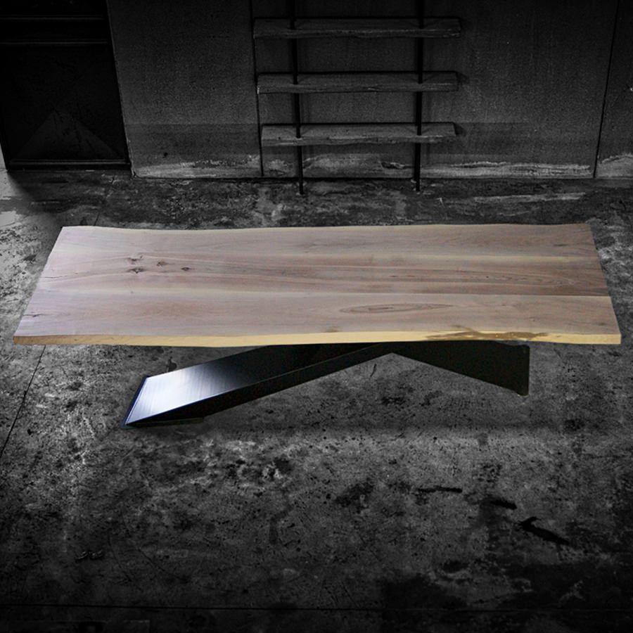 Tavoli Di Design In Legno.X Design Big Noce Tavolo Di Design In Legno Massello Di