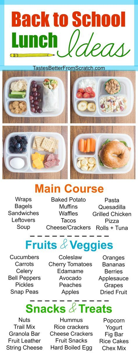 Back to School Lunch Ideas Back to School Lunch Ideas your kids will love! Healthy snack ideas, healthy lunch ideas, and tips and tricks for making lunch ahead of time!