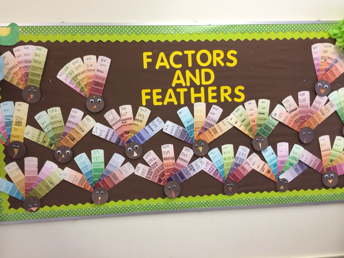 Thanksgiving Multiplication Turkey With Paint Strips Students Show Fact Commutative Fact
