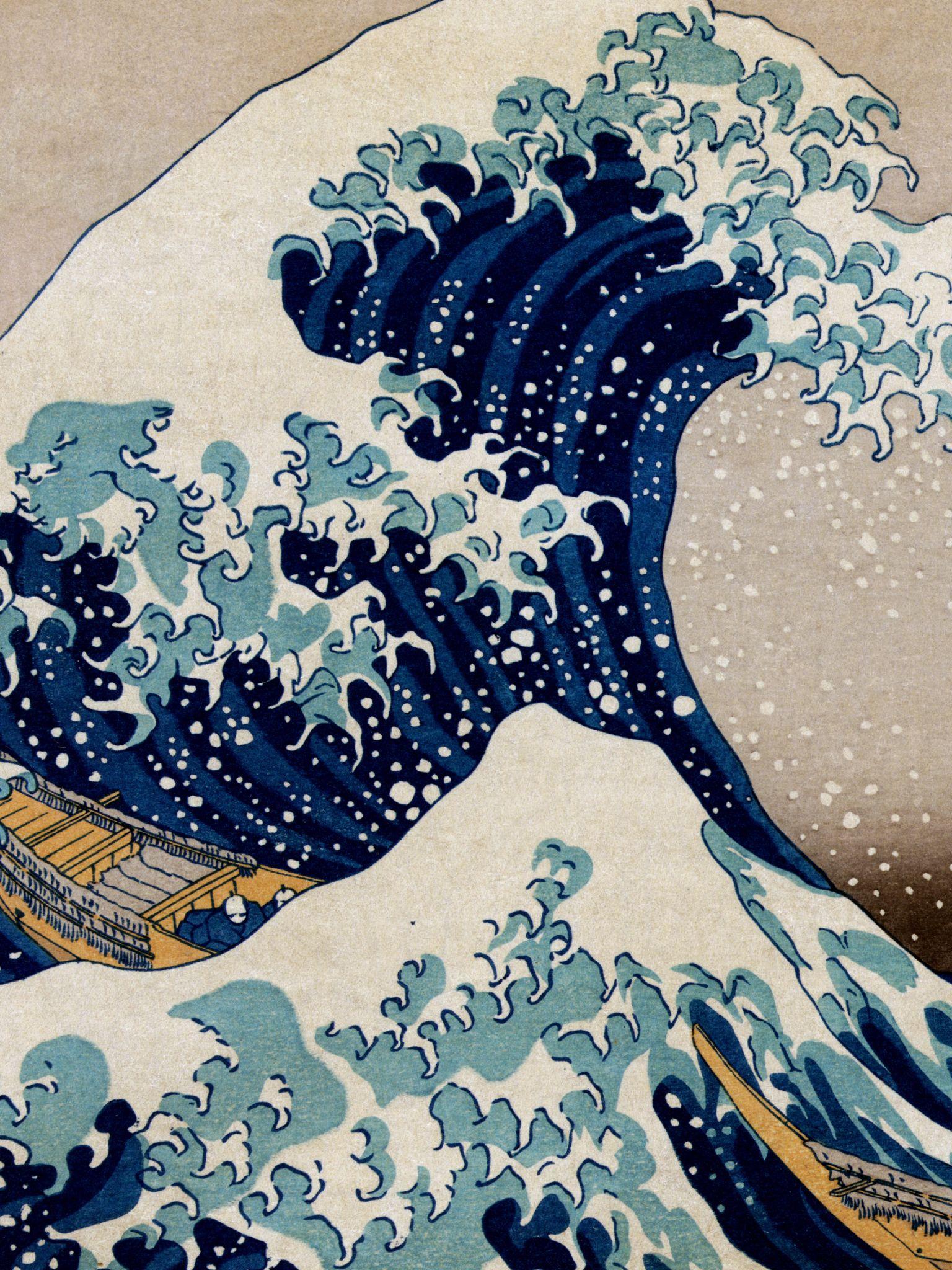 The Great Wave Off Kanagawa Iphone Wallpaper D 201 Tail The Great Wave At Kanagawa 1830 1833