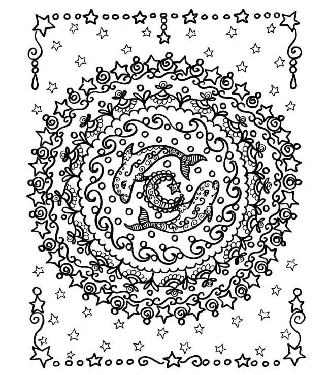 Dolphin Mandala Coloring Pages