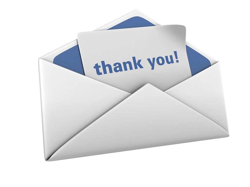 Parts Of A Well Written Thank You Note  Note