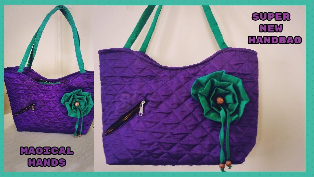 Super Handbag Make At Home Diy Cutting And Sching In Hindi Fl