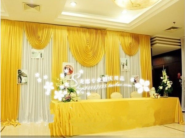 20ft 10ft white and font b gold b font wedding backdrop curtain with
