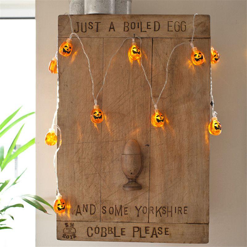 2M 20 LED Battery String Light Halloween Pumpkin Shaped LED Strip