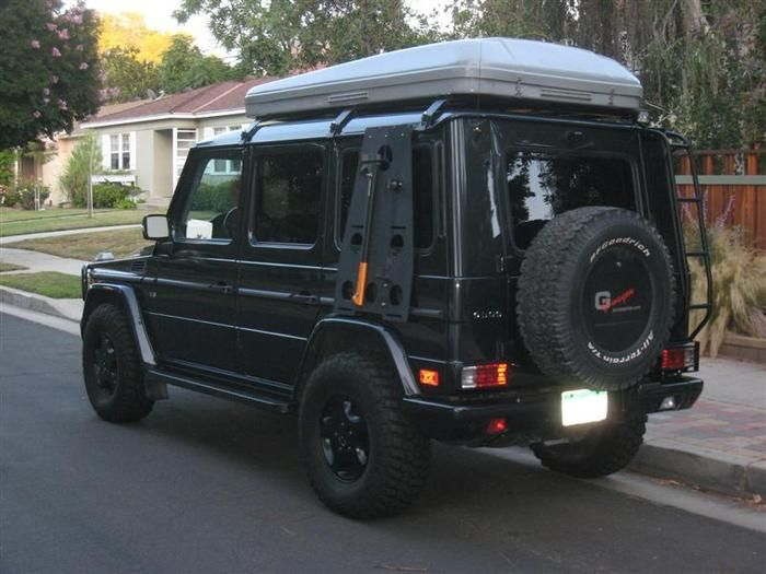 Mercedes G Wagen With Hannibal Impi Roof Tent Overland