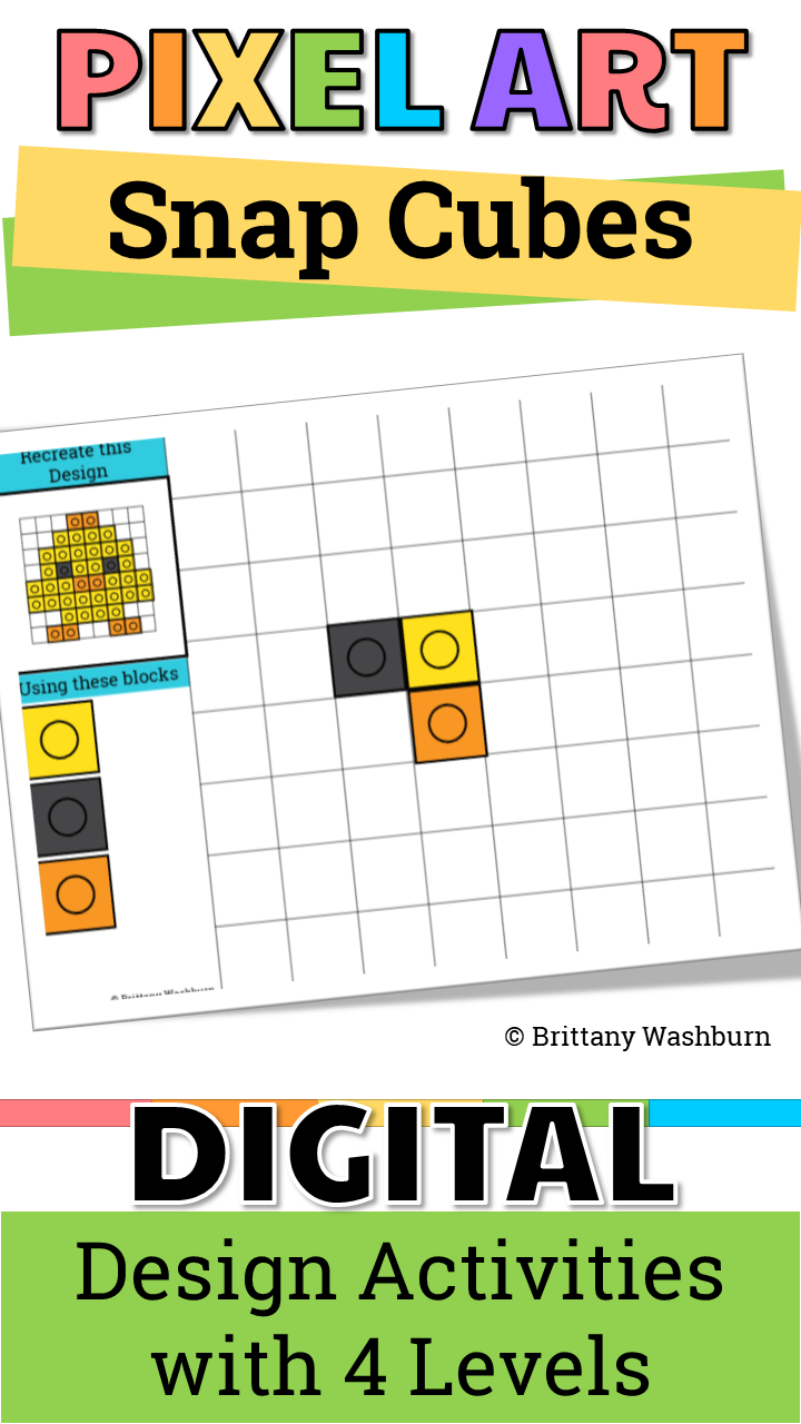 Pixel Art With Counting Cubes Holidays Bundle Kindergarten Technology Activities Technology Lessons Elementary Technology [ 1280 x 720 Pixel ]