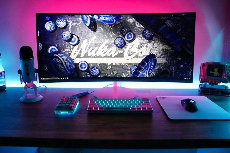 Led Strip Lights For Indoor Decoration Wave Lights In 2021 Game Room Design Gamer Room Diy Gaming Room Setup