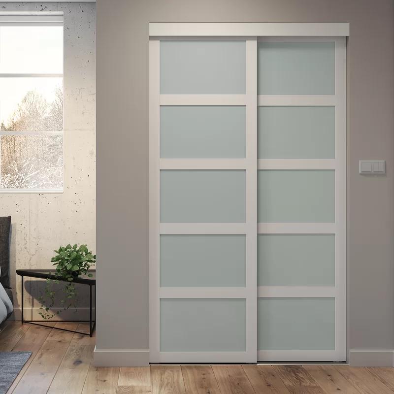 Indoor Studio Paneled Wood And Pvc Vinyl Sliding Closet Doors Sliding Closet Doors Closet Doors Vinyl Frames