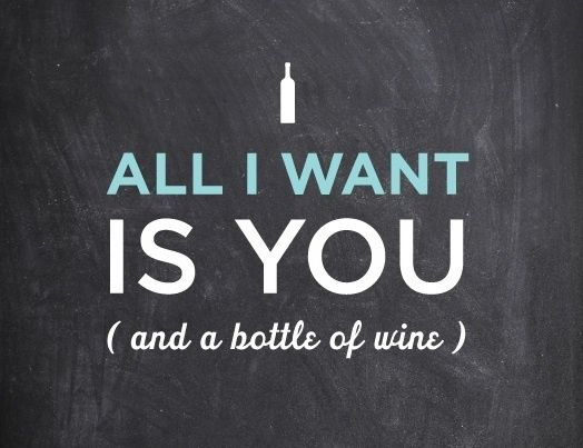 you (plus some wine thank you)