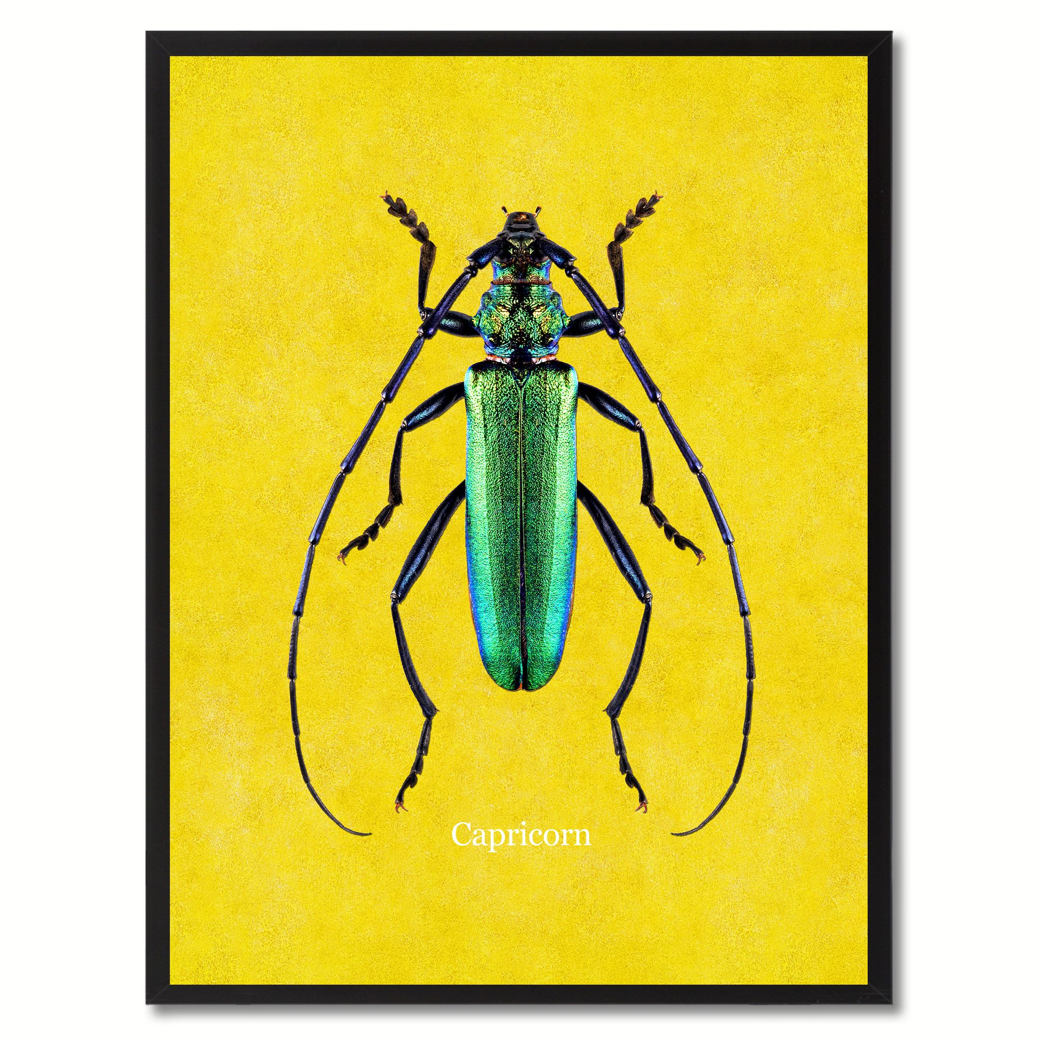 Capricorn Yellow Canvas Print, Picture Frames Home Decor Wall Art ...