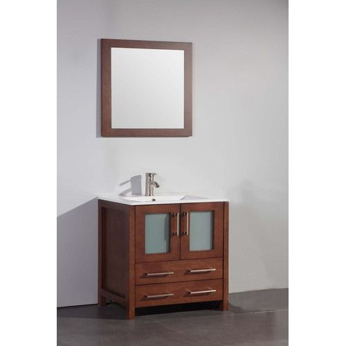 "Found it at Wayfair - 30"" Single Bathroom Vanity Set with Mirror"