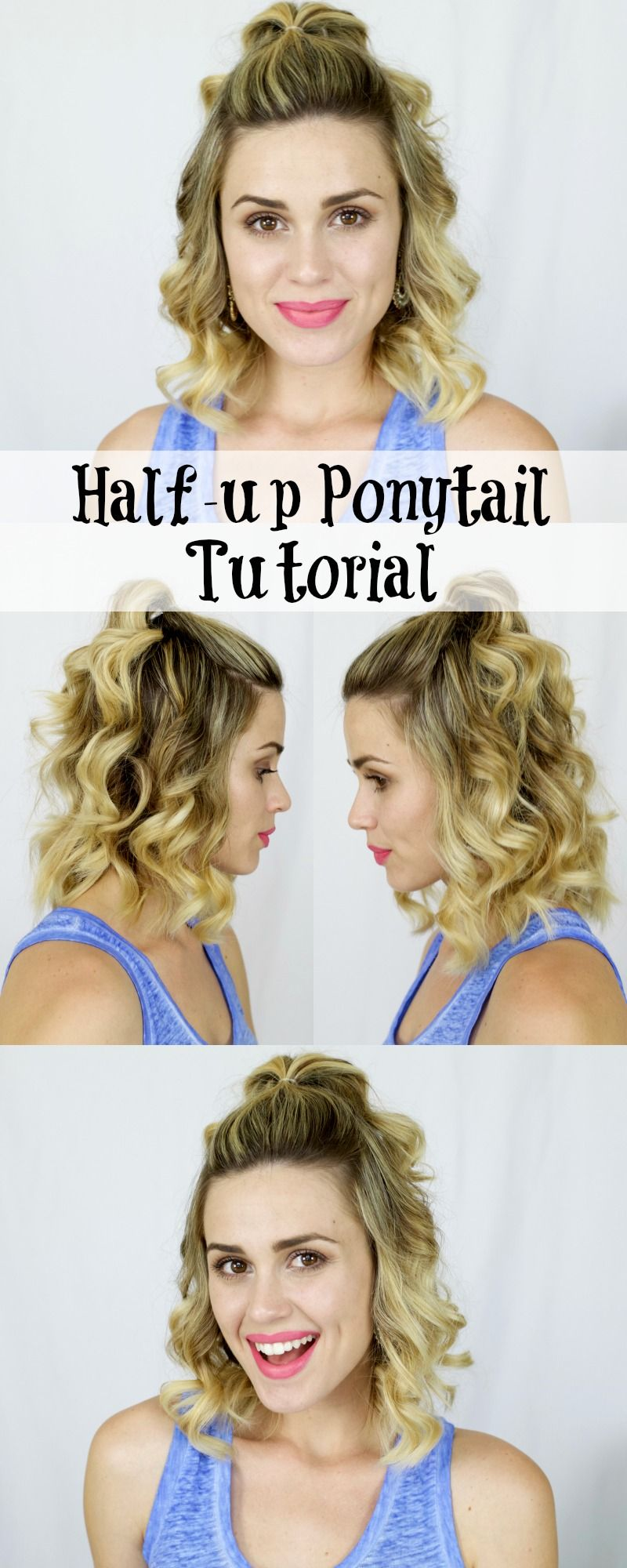 How to halfup ponytail i whip my hair back and forth pinterest