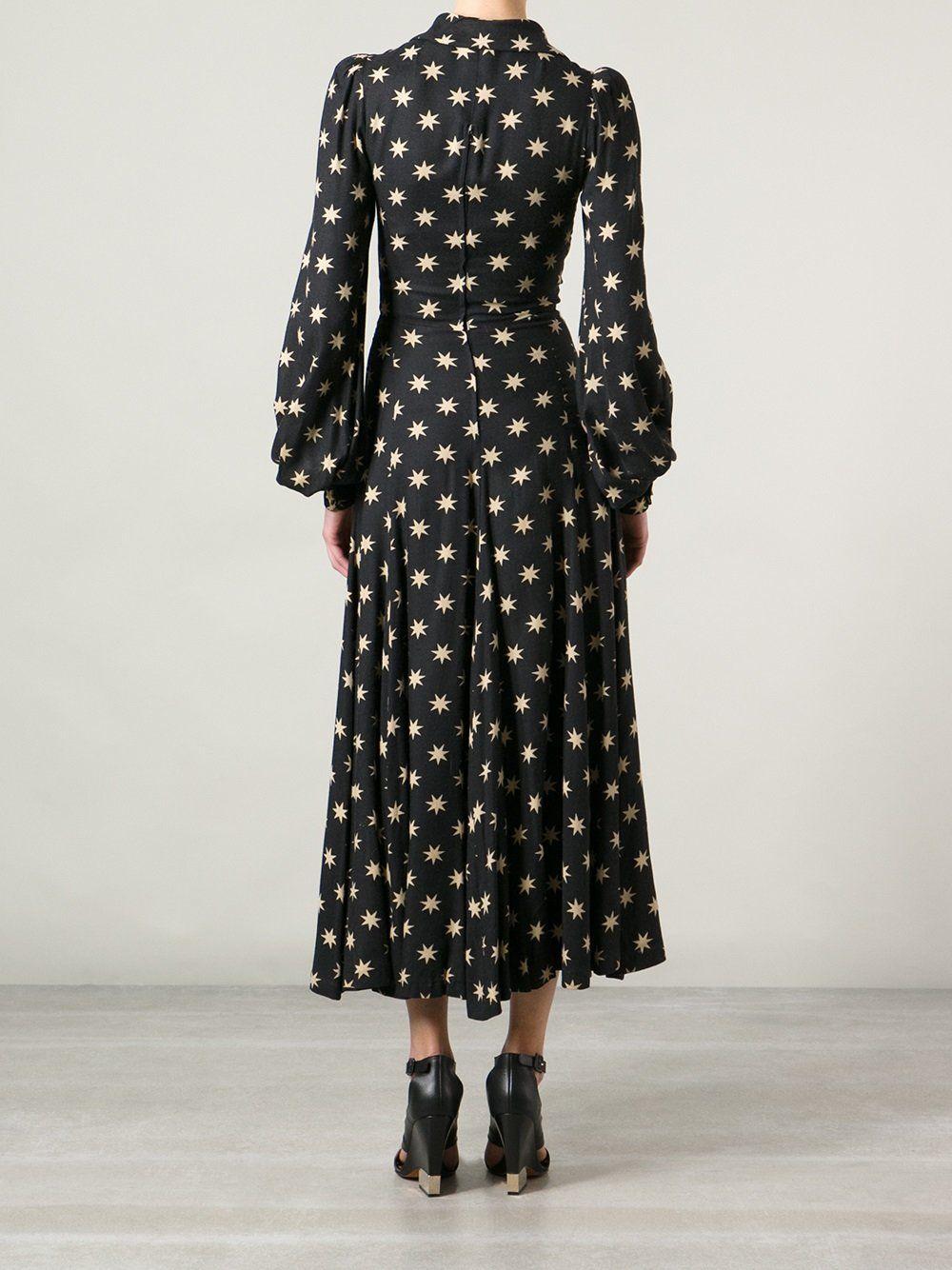 92f6aa62a5 Biba Vintage star print maxi dress | BIBA LOOK from London, 1960s ...