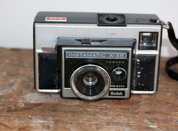 Vintage Kodak Instamatic Camera x35 retro camera by Fleaosophy, $10.95