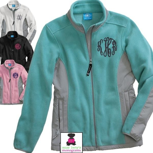Monogrammed Fleece Jacket - Ladie&39s - Miss Lucy&39s Monograms | New
