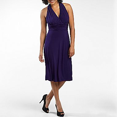 60cac2762d5 Jones Wear® Ruched Mock-Halter Dress - jcpenney