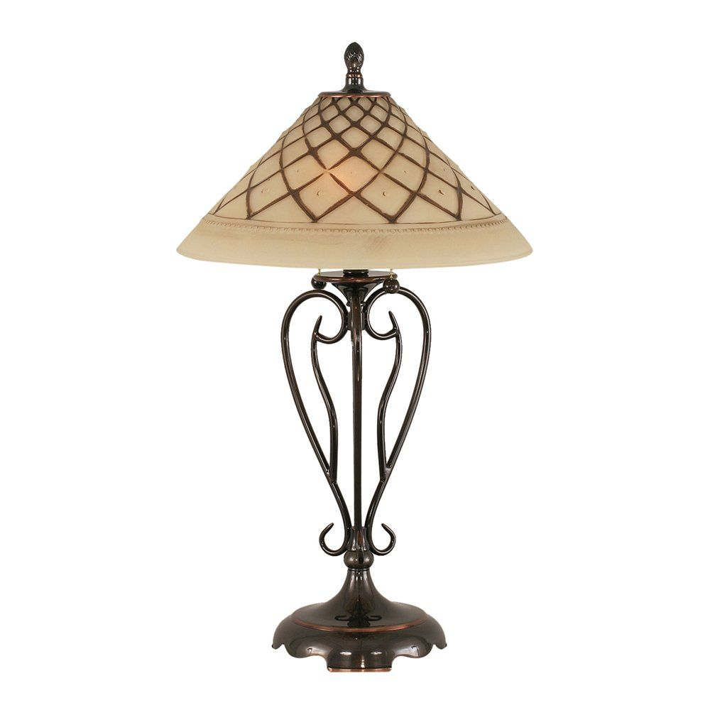 Shop Toltec Lighting  42 Olde Iron Table Lamp with Chocolate Icing Glass at ATG Stores. Browse our table lamps, all with free shipping and best price guaranteed.