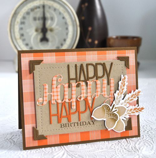 Throwback Thursday: Tipped Tops Dies   Happy Birthday Card By Dawn McVey  For Papertrey Ink