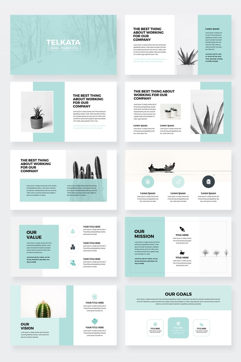 Modern Business Plan PowerPoint Template Editable power point | Etsy