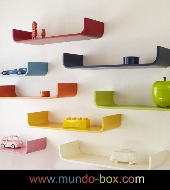 Curved color wall shelves repisas o estantes curvas de by MundoBox