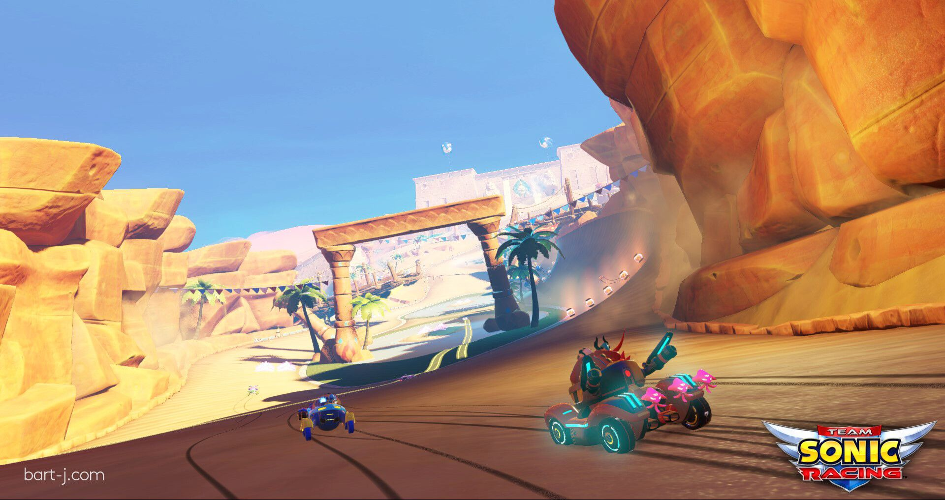 Artstation Team Sonic Racing Sand Road Bart Januszkiewicz Racing Sand Road