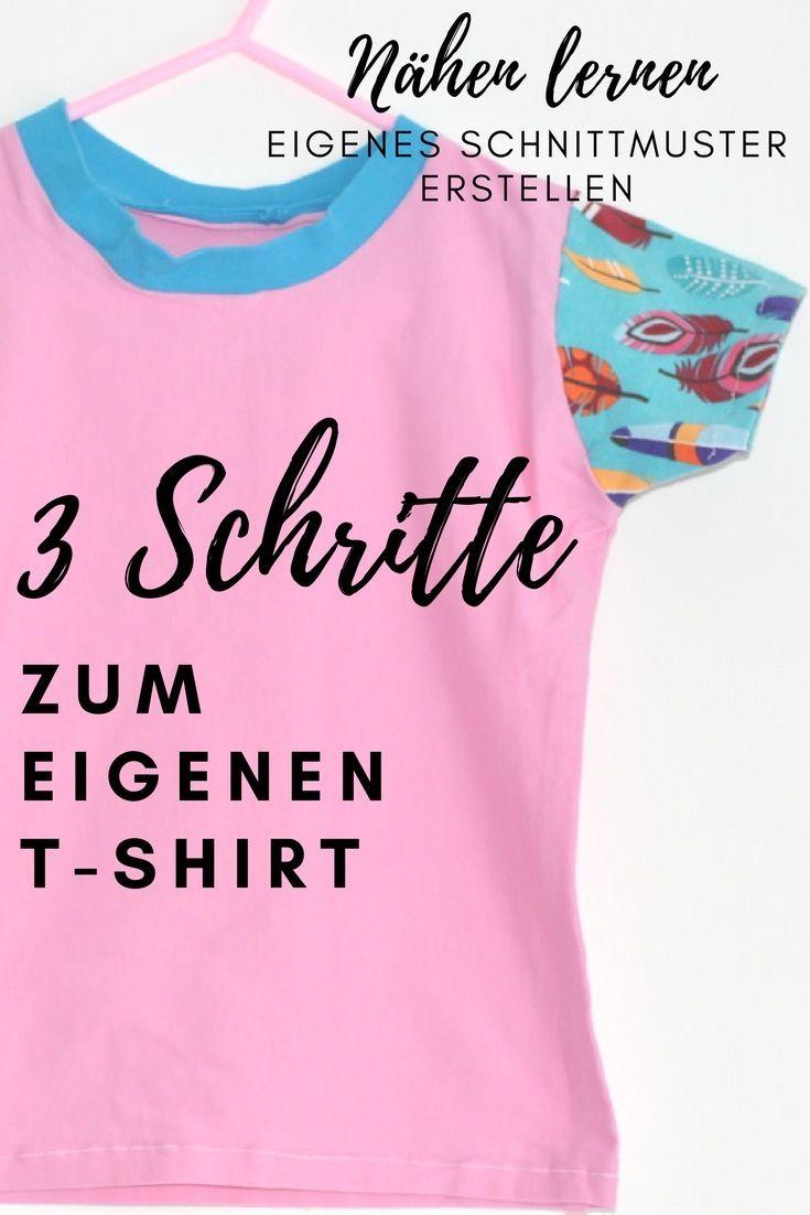 Eigenes T-Shirt Schnittmuster: Nähanleitung - Nenalisi - Danielas Mami & Familien Blog